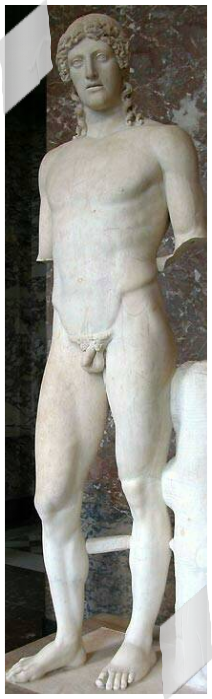 Intravital Portraits of the Ancients. Apollo statue