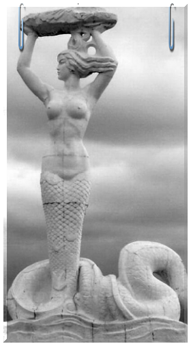 Miss ancient perfection. Snake-woman Nuva patching the sky