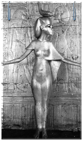Miss ancient perfection. Skorpion-like goddess Selket in a human appearance