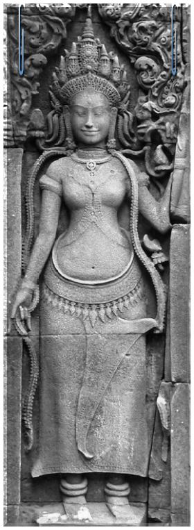 Miss ancient perfection. Apsara