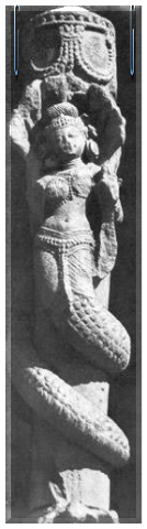 Miss ancient perfection. Nagini in appearance of a semiwoman-semisnake