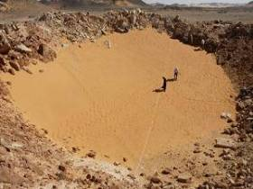 This crater in Sahara and other similar craters probably remain after the last nuclear war