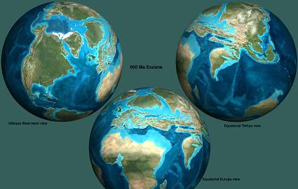 Location Of Continents And Oceans In The Paleogene Earth Before - Six continents of the world