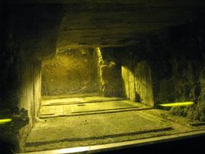 Tunnel  of Kotel (the Temple Mount). Underground Jerusalem