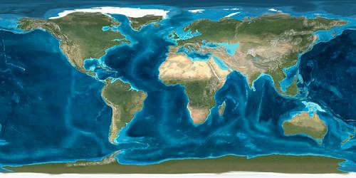Miocene World Map.Earth In The Early Miocene A Strange World Of Light And Dark