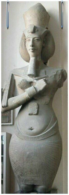 Intravital Portraits of the Ancients. Statue of Akhenaten, Egyptian museum in Cairo