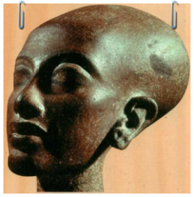 Intravital Portraits of the Ancients.  Head of a daughter of Ehnaton and Nefertiti, Cairo museum