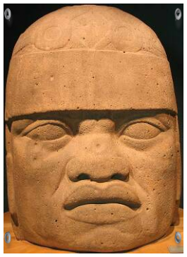 Intravital portraits of the ancients. Olmec stone head