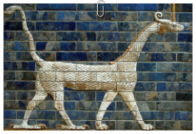 Babylonian dragon - sirrush. Iraq